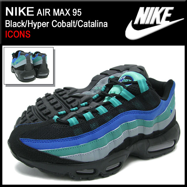 ab8b4b9f6f5 ice field  Nike NIKE sneakers Air Max 95 Black Hyper Cobalt Catalina ...
