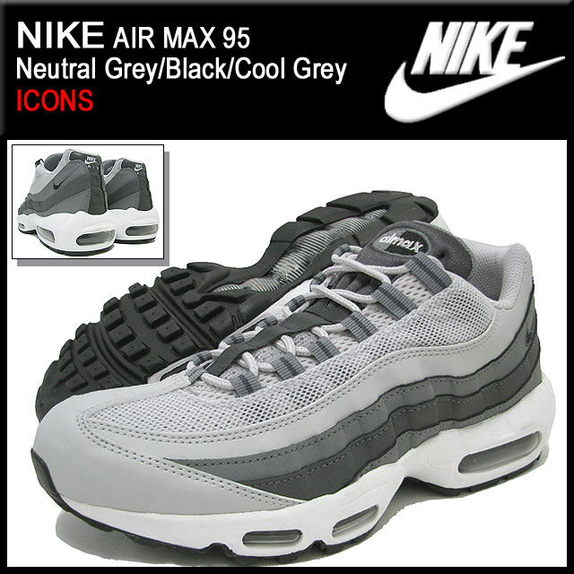 bd02704bde1 ice field  Nike NIKE sneakers Air Max 95 Neutral Grey Black Cool ...