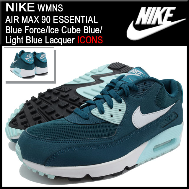 Nike NIKE sneakers Womens Air Max 90 essential Blue ForceIce Cube BlueLight Blue Lacquer limited men's (men's) (nike WMNS AIR MAX 90 ESSENTIAL ICONS