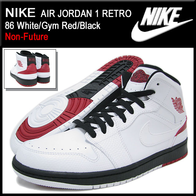 313437c20156 Nike NIKE sneakers Air Jordan 1 retro 86 White Gym Red Black non future men  (men s)-nike AIR JORDAN 1 RETRO 86 Non-Future AJ2 Sneaker sneaker SNEAKER  MENS ...