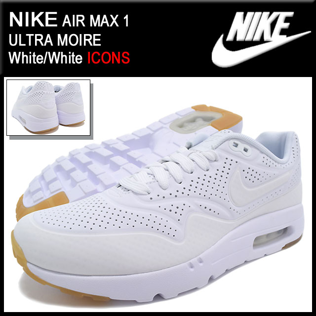 308eb96560192 ... Nike NIKE sneakers Air Max 1 ultra moire White/White limited edition  men's (men's ...