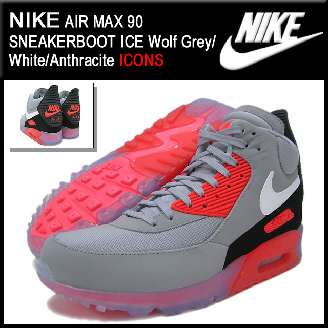 first rate 4dce5 eb7c9 Nike NIKE sneakers Air Max 90 sneaker boot ICE Wolf Grey White Anthracite  limited edition men s (men s) (nike AIR MAX 90 SNEAKERBOOT ICE ICONS  Sneaker ...