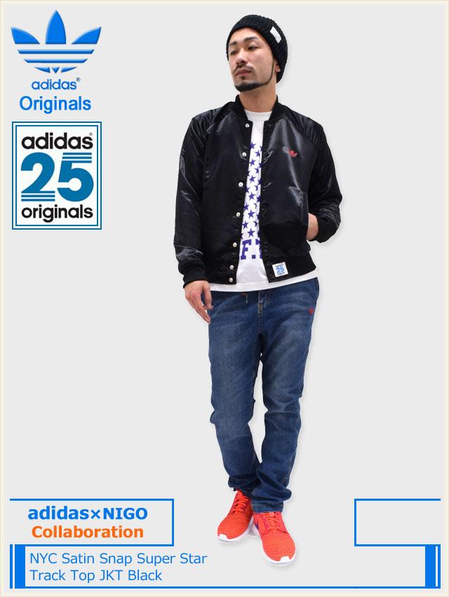 Adidas Originals Nyc Satin Snap Super Spore Jakke - Menn IY5xAAOWh4