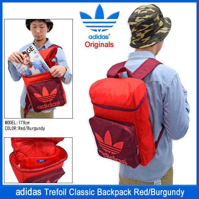 ice field  Adidas adidas trefoil classic backpack red   burgundy ... 3cb387a8d965c