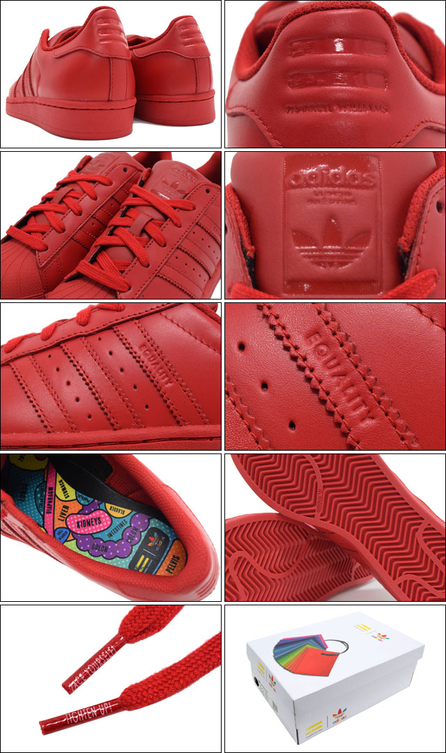 Adidas adidas sneakers Lady's Farrell Williams superstar supermarket color red collaboration originals (SNEAKER LADIES, shoes shoes SHOES S41833 of
