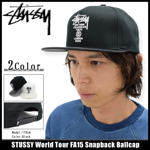 6482698a719 Stussy STUSSY Cap Hat World Tour FA15 Snapback Cap (snapback world tour  men s men s Stussy 131487 Steacy) ice filed icefield