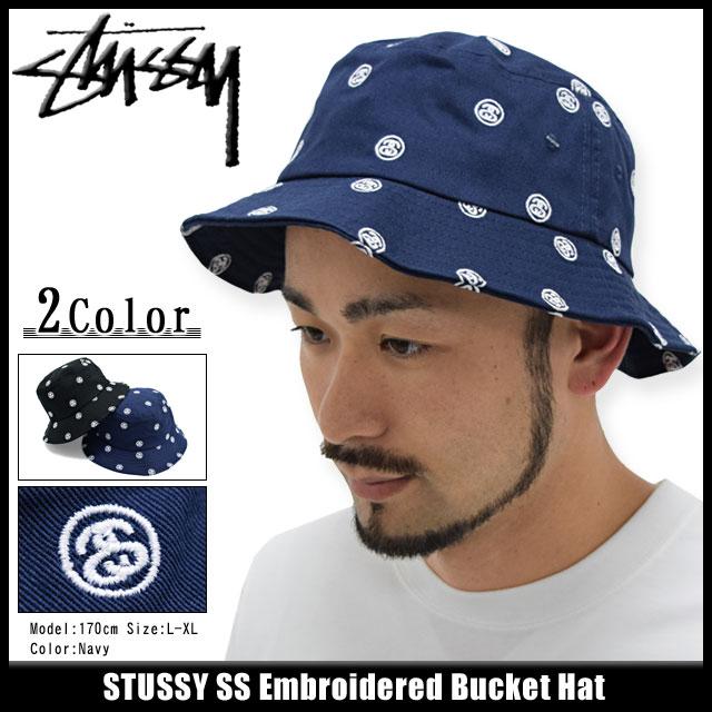 ステューシー バケット ハット STUSSY SS Embroidered Bucket Hat 帽子ステューシー STUSSY バケット ハット  SS Embroidered Bucket Hat 帽子(stussyhat メンズ・男性 ... a2cdf993e95a
