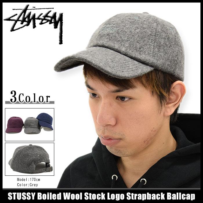 be42fe8e119 楽天市場 ステューシー STUSSY キャップ 帽子 Boiled Wool Stock Logo ...