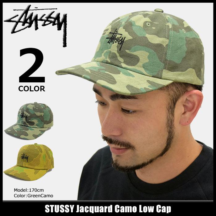 41681ac0210 楽天市場 ステューシー STUSSY キャップ 帽子 Jacquard Camo Low Cap ...