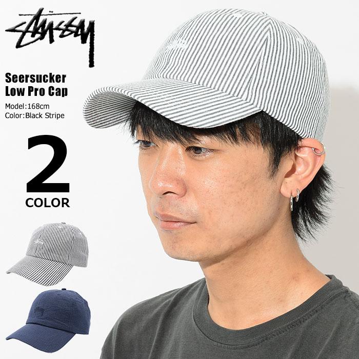 STUSSYステューシーのキャップ Seersucker Low Pro Cap01