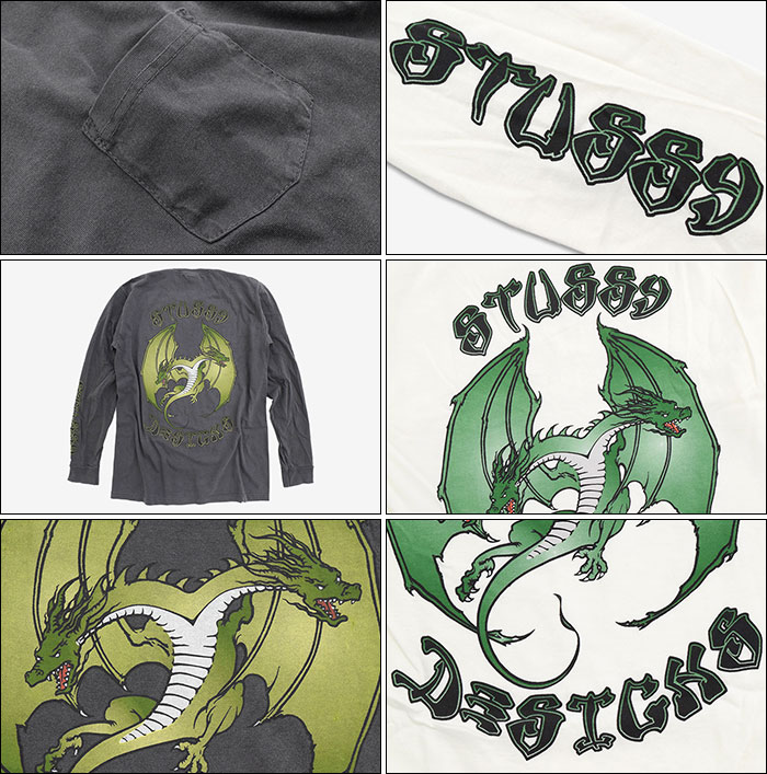 STUSSYステューシーのTシャツ Double Dragon Pigment Dyed Pocket03