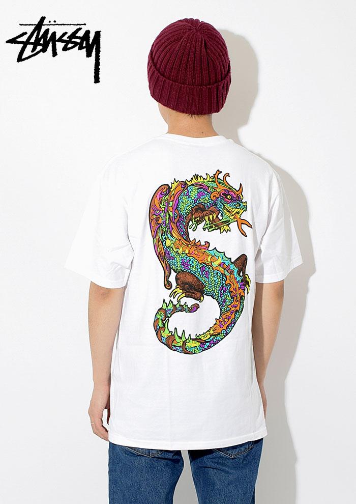 STUSSYステューシーのTシャツ Neon Dragon02