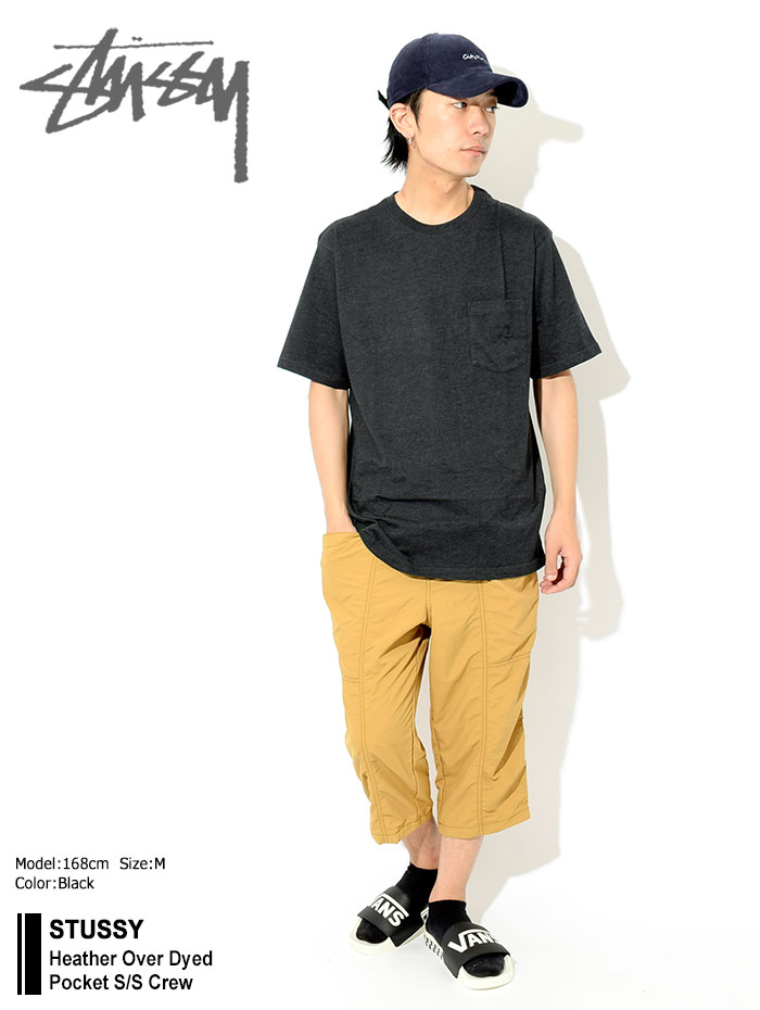STUSSYステューシーのカットソー Heather Over Dyed Pocket01