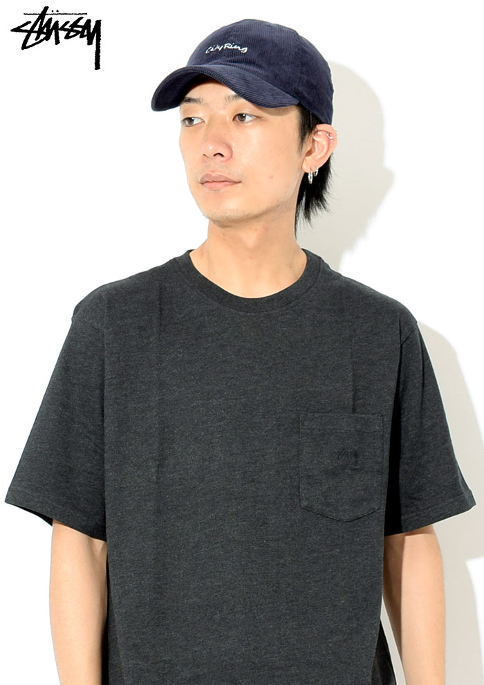 STUSSYステューシーのカットソー Heather Over Dyed Pocket02