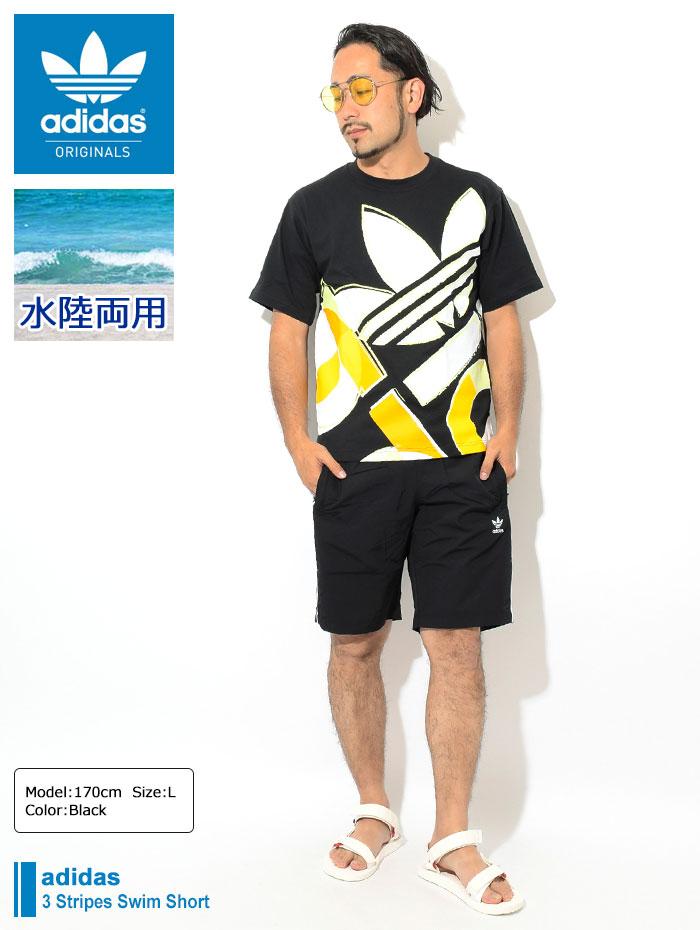adidasアディダスの水着 3 Stripes Swim Short01