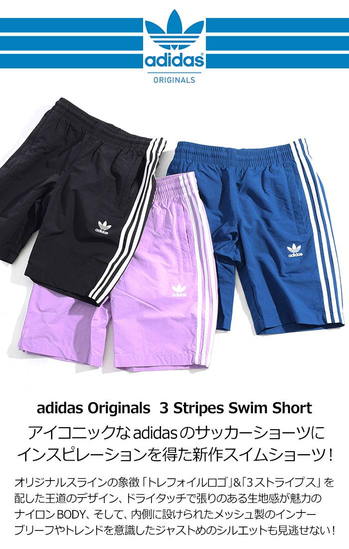 adidasアディダスの水着 3 Stripes Swim Short02
