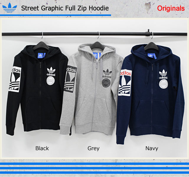 Adidas adidas hoodies men's zip-up street graphic originals (adidas Street  Graphic Full Zip Hoodie Originals hood full ZIP Zip up Hoody Parker tops  men's ...