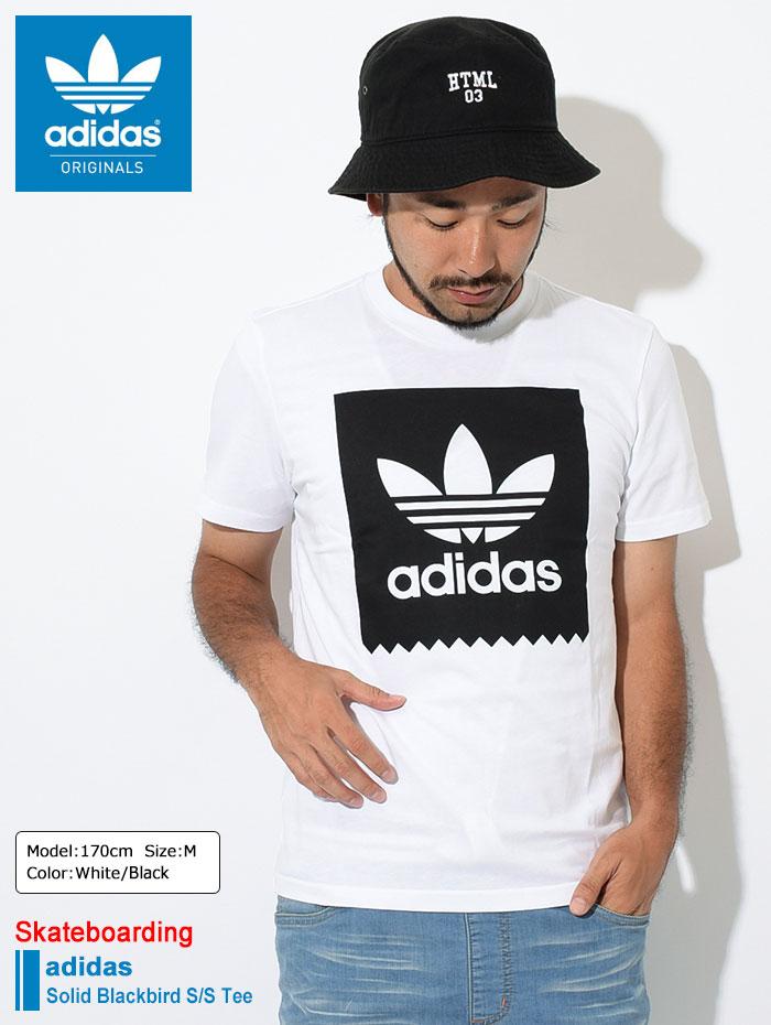 adidasアディダスのTシャツ Solid Blackbird01
