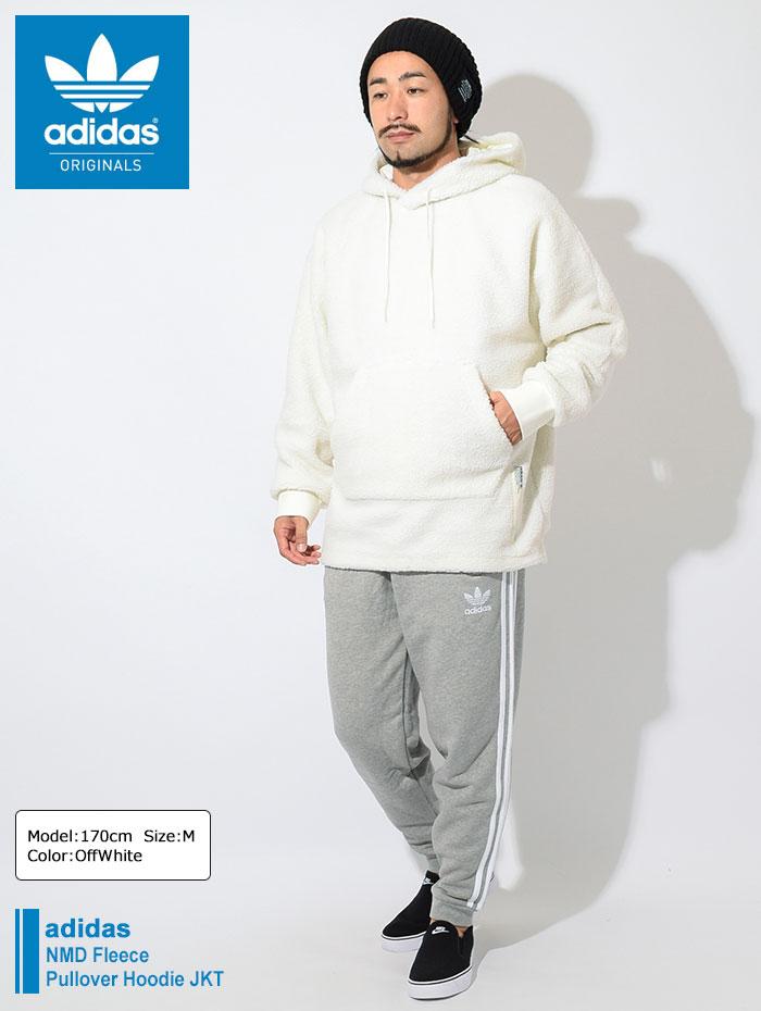 アディダス adidas ジャケット メンズ NMD フリース プルオーバー フーディ オリジナルス(adidas NMD Fleece Pullover Hoodie JKT ビッグシルエット オーバーサイズ JACKET JAKET アウター メンズ 男性用 DH2283)|ice