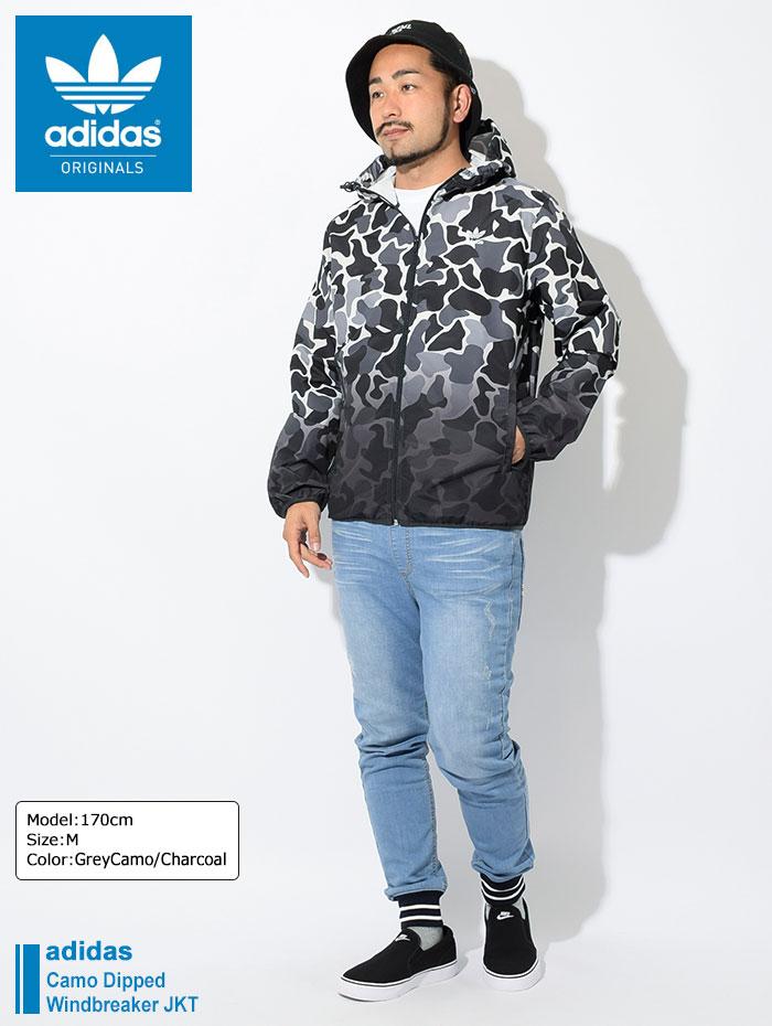 adidasアディダスのジャケット Camo Dipped Windbreaker01