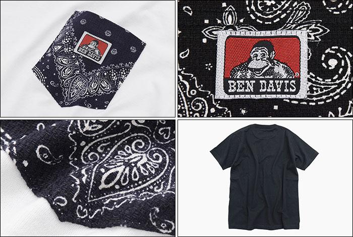 BEN DAVISベンデイビスのTシャツ Paisley Pocket04