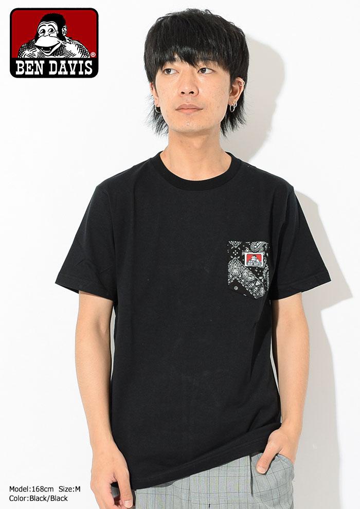 BEN DAVISベンデイビスのTシャツ Paisley Pocket02