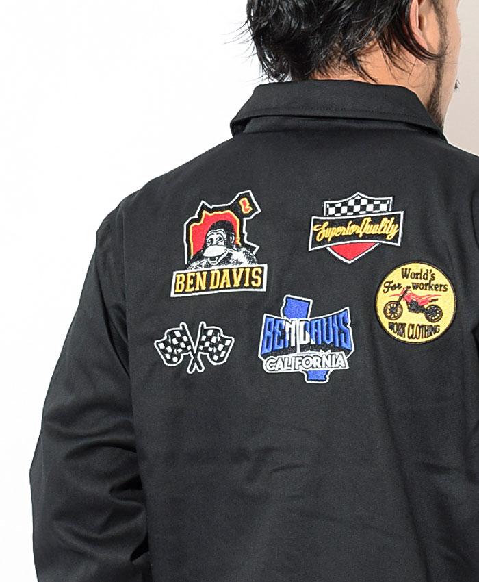 BEN DAVISベンデイビスのジャケット Logo Wappen Coach04