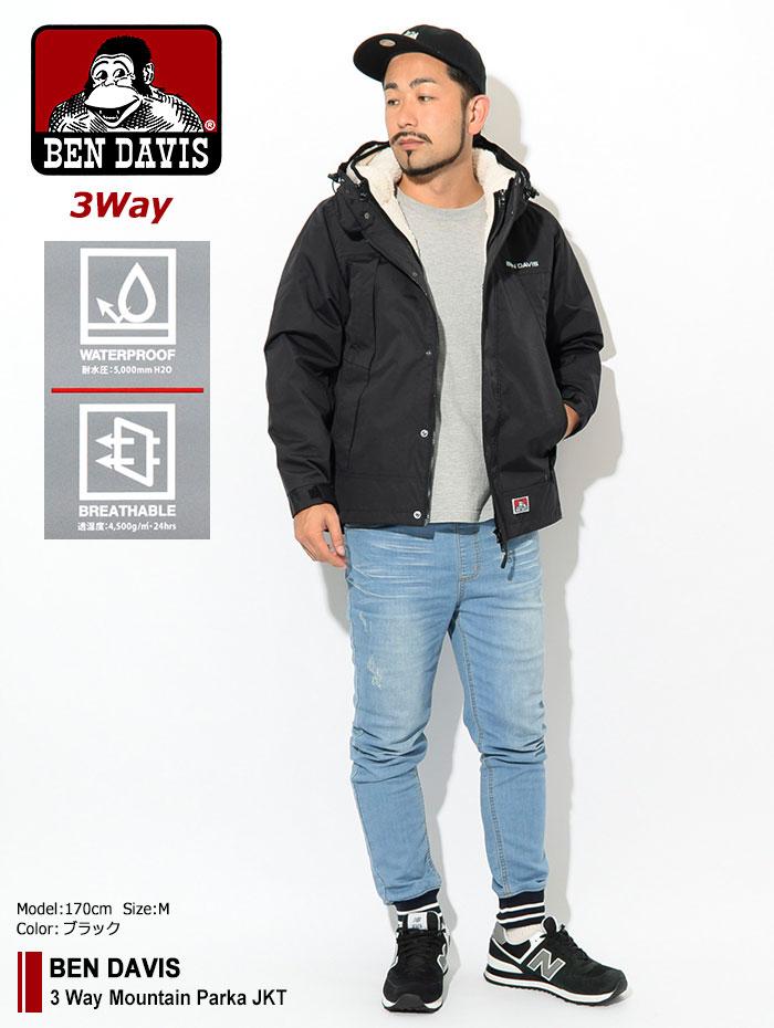 BEN DAVISベンデイビスのジャケット 3 Way Mountain Parka01