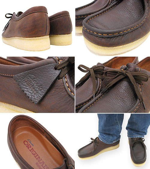 mens clarks wallabees beeswax