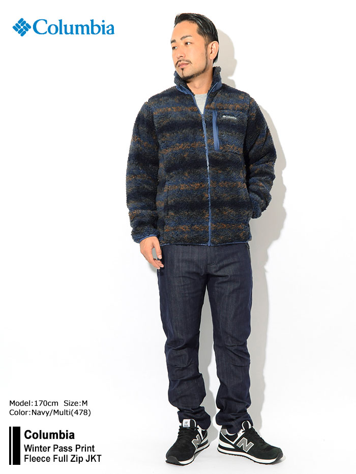 Columbiaコロンビアのジャケット Winter Pass Print Fleece Full Zip01