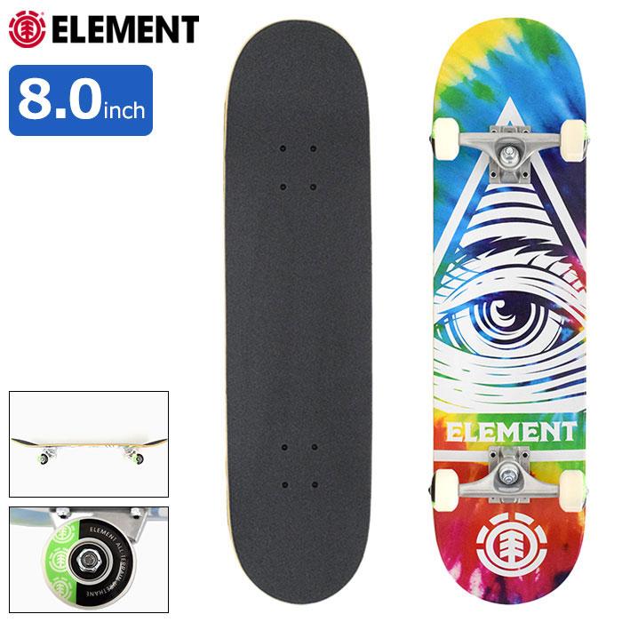 ELEMENTエレメントのスケボー Eye Trippin Rainbow01