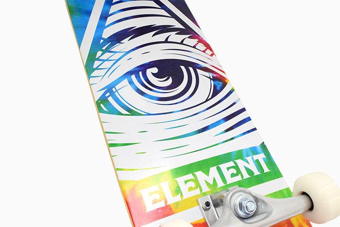 ELEMENTエレメントのスケボー Eye Trippin Rainbow03