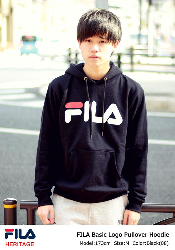 FILAフィラのパーカー Basic Logo Pullover Hoodie01