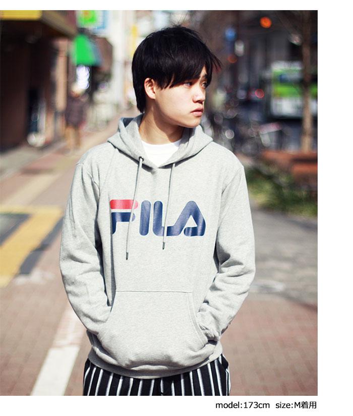 FILAフィラのパーカー Basic Logo Pullover Hoodie02