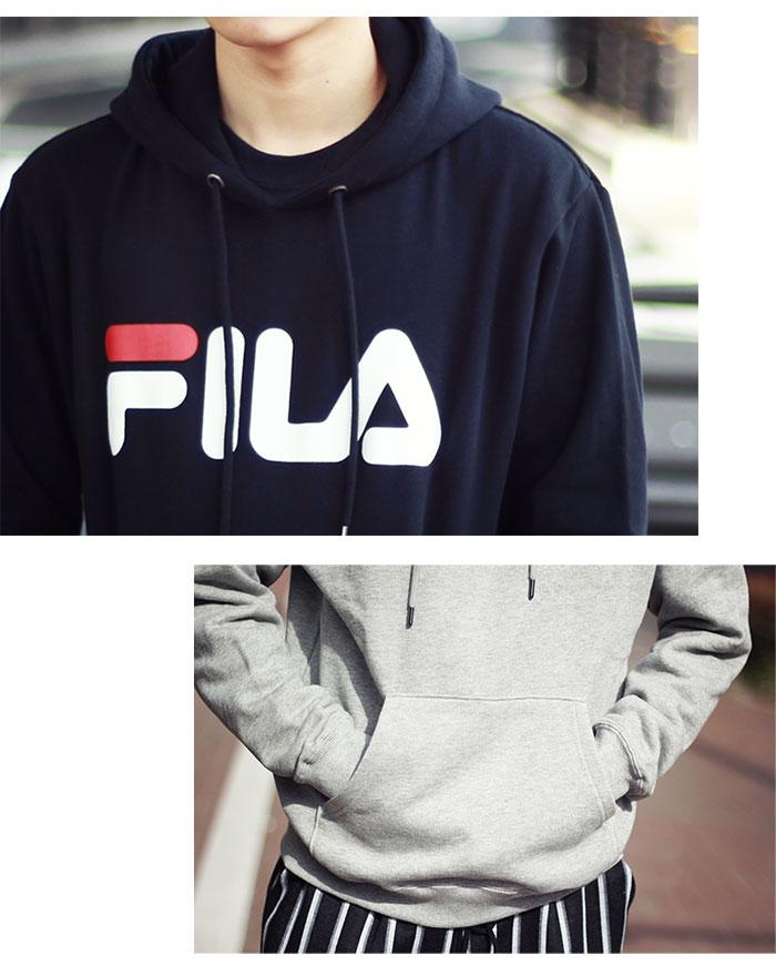 FILAフィラのパーカー Basic Logo Pullover Hoodie04