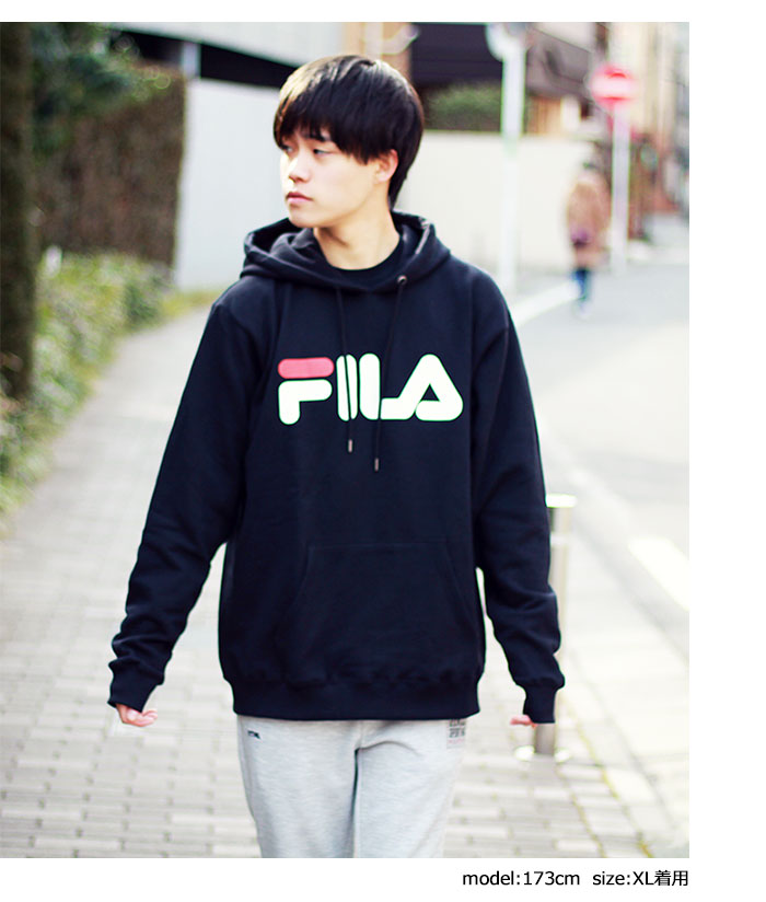 FILAフィラのパーカー Basic Logo Pullover Hoodie05