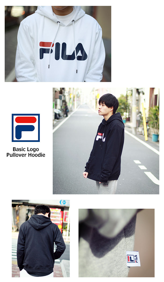 FILAフィラのパーカー Basic Logo Pullover Hoodie06