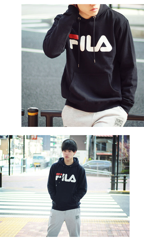FILAフィラのパーカー Basic Logo Pullover Hoodie07