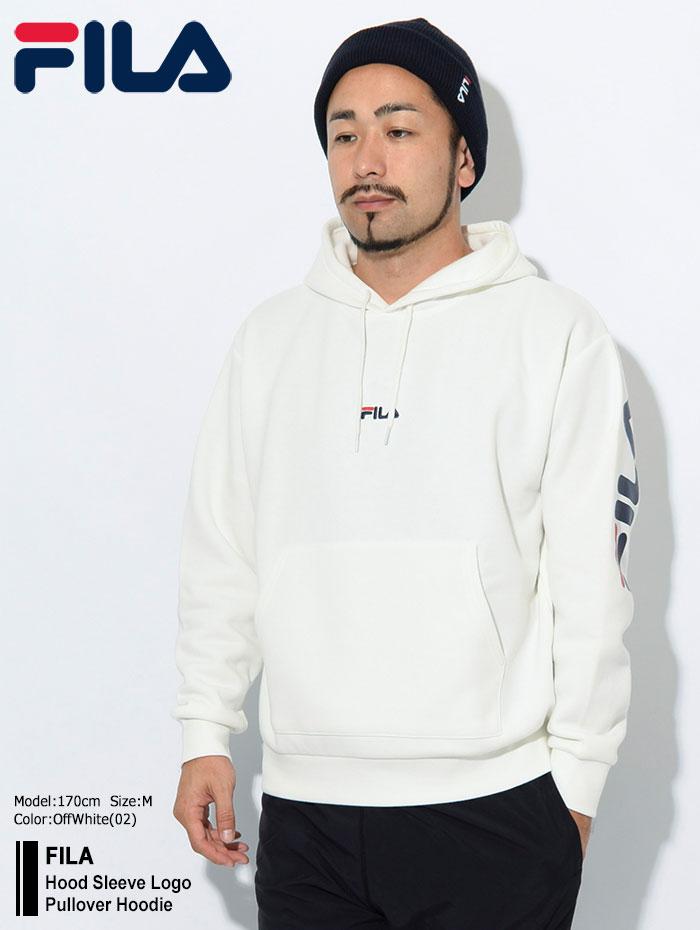 FILAフィラのパーカー Hood Sleeve Logo Pullover Hoodie01