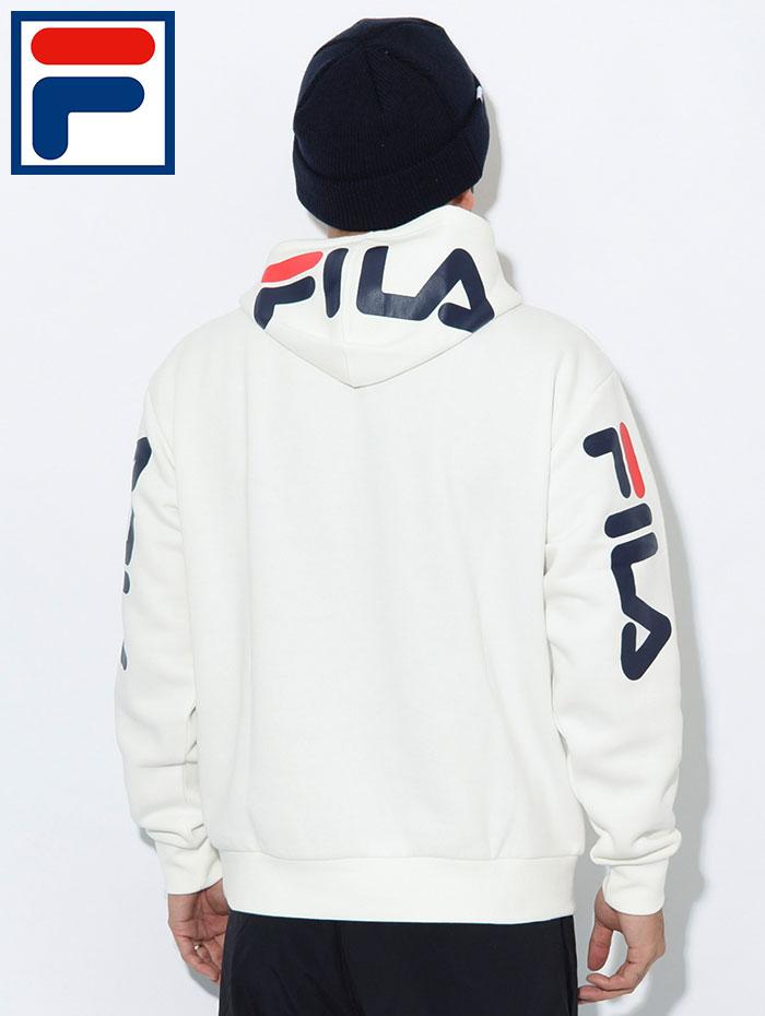 FILAフィラのパーカー Hood Sleeve Logo Pullover Hoodie02