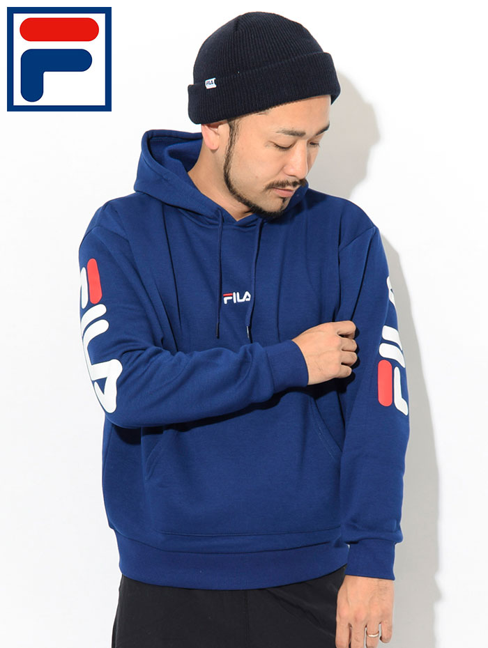 FILAフィラのパーカー Hood Sleeve Logo Pullover Hoodie03