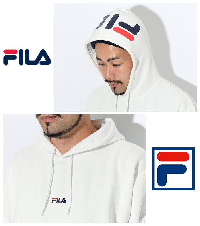 FILAフィラのパーカー Hood Sleeve Logo Pullover Hoodie05