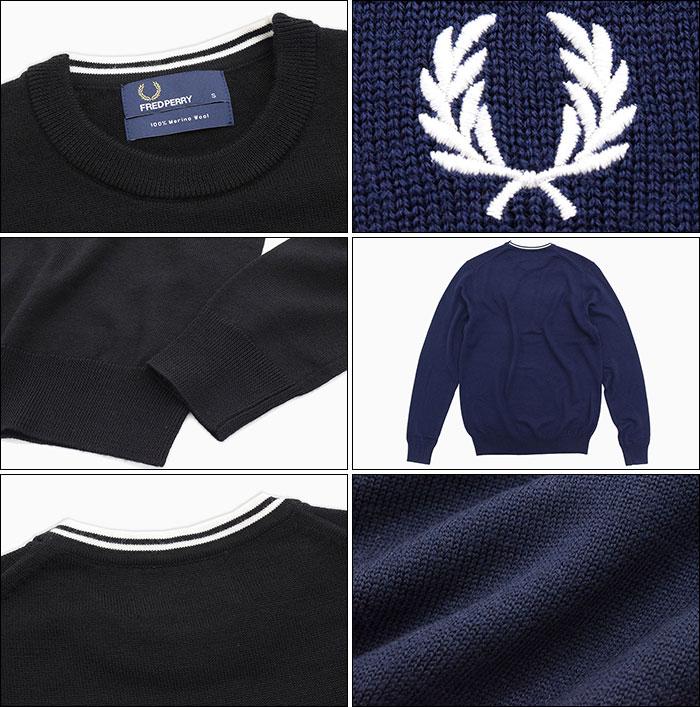 FRED PERRYフレッドペリーのセーター Classic Crew Neck Sweater05