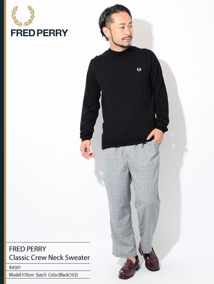 FRED PERRYフレッドペリーのセーター Classic Crew Neck Sweater01
