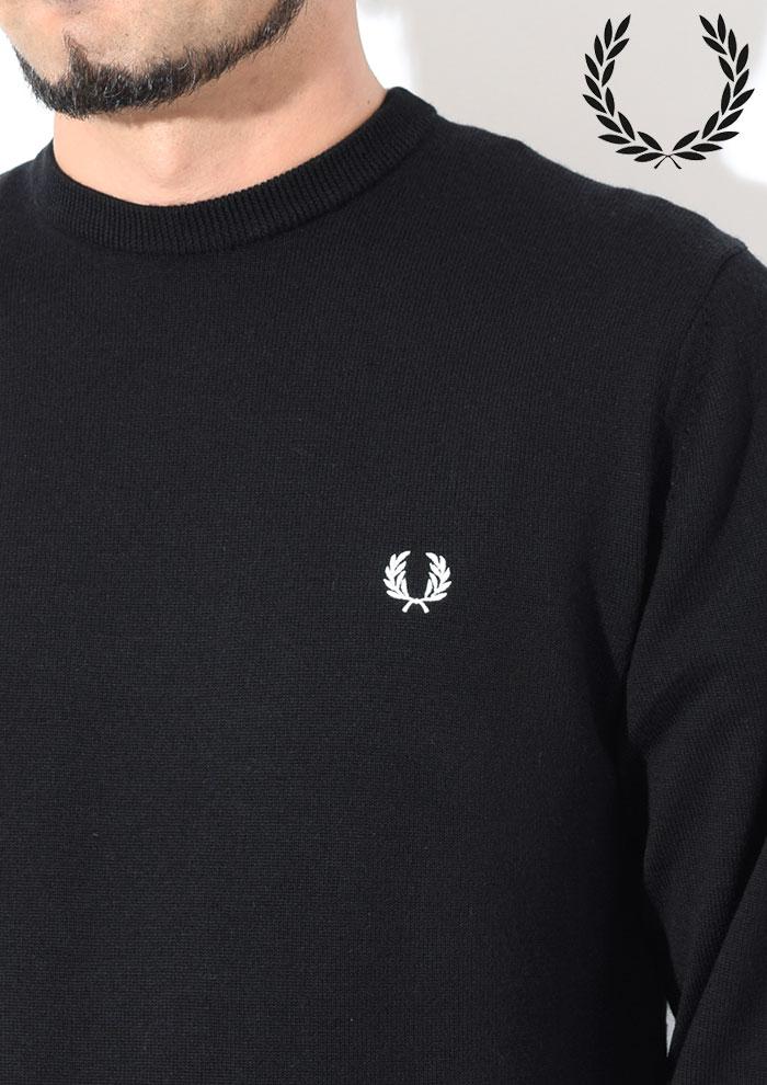 FRED PERRYフレッドペリーのセーター Classic Crew Neck Sweater03