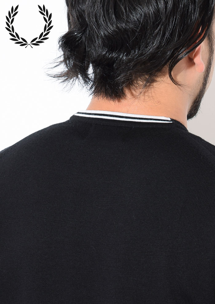 FRED PERRYフレッドペリーのセーター Classic Crew Neck Sweater04