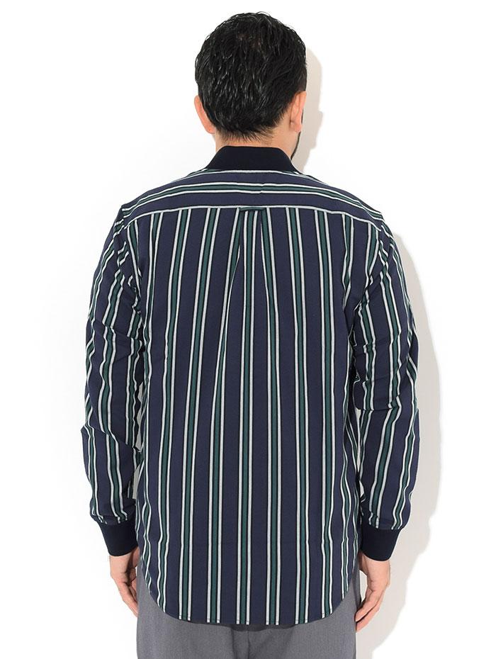 FRED PERRYフレッドペリーのシャツ Seersucker Bomber Neck Shirt02