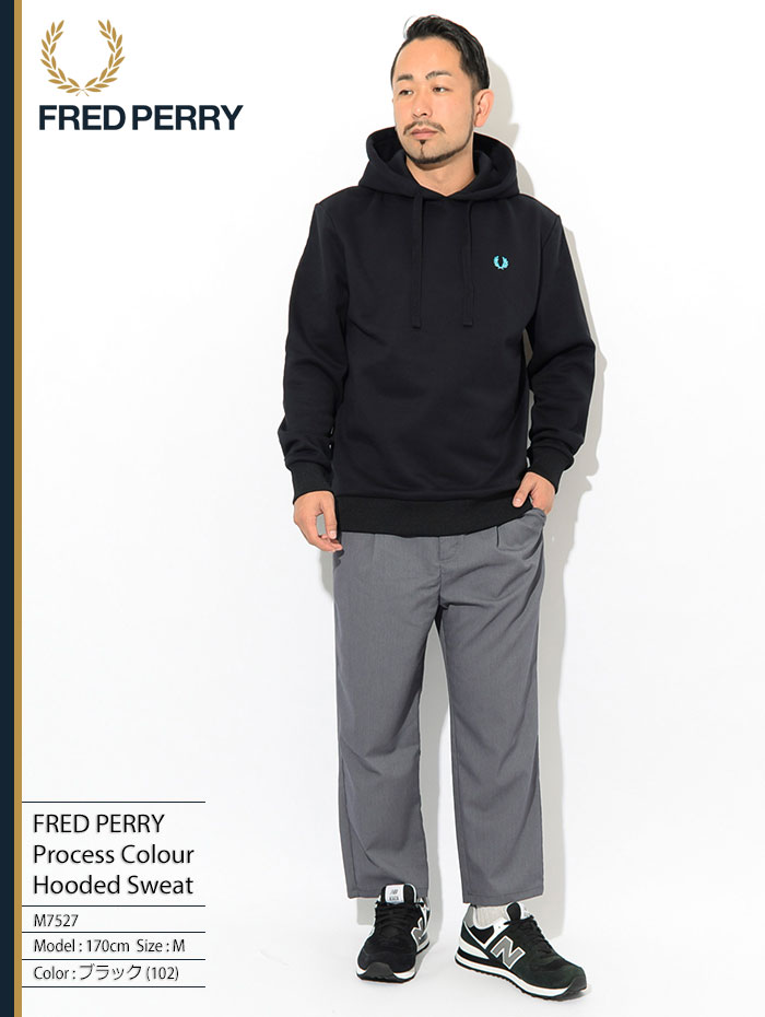 FRED PERRYフレッドペリーのパーカー Process Colour Hooded Sweat01