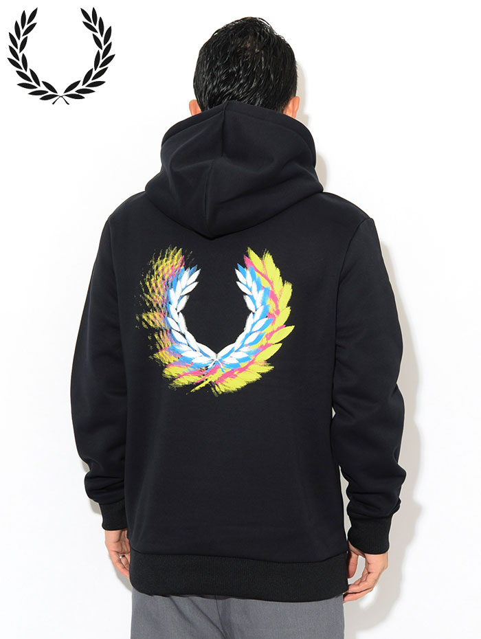 FRED PERRYフレッドペリーのパーカー Process Colour Hooded Sweat03