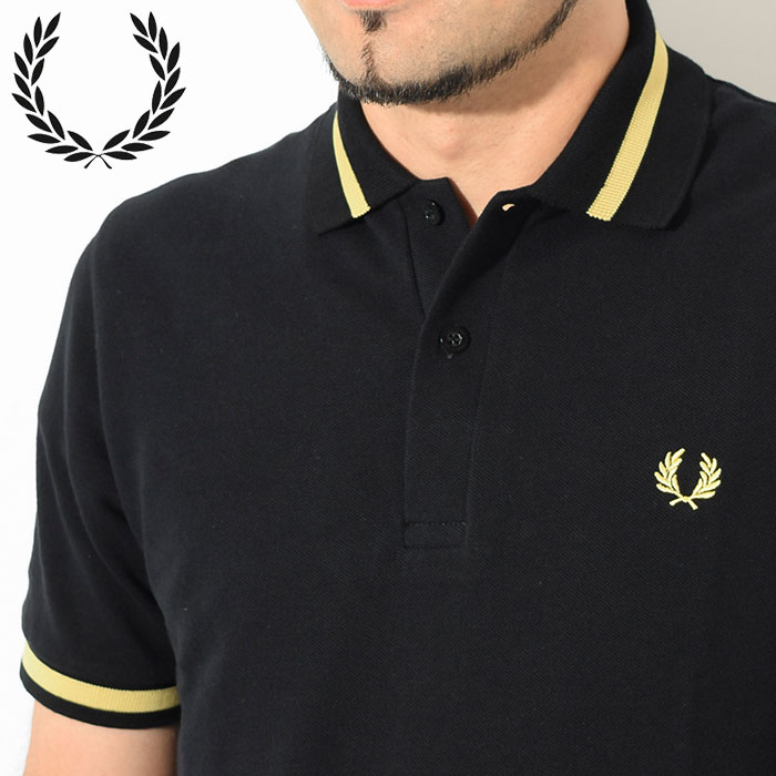 FRED PERRYフレッドペリーのポロシャツ M2 Single Tipped Fred Perry Polo Shirt04